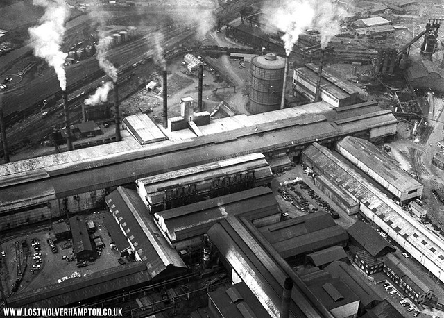 An aerial view of this massive industrial site when it was at its peak of production.