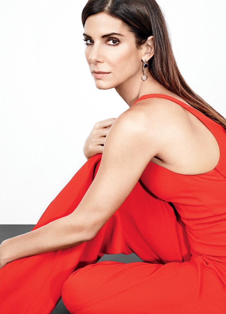 Сандра Буллок — Фотосессия для «Glamour» 2015 – 1