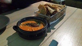 Layered Queso Dip at Smith & Daughters