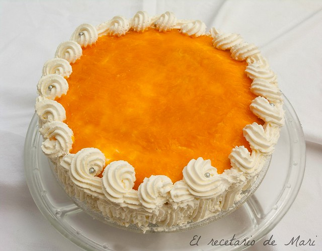 Tarta de calazabaza con cuajada de naranja