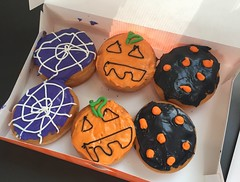 The lovely folks at Dunkin made these just for me after I had to wait for my donuts this morning :grinning::grinning::grinning: