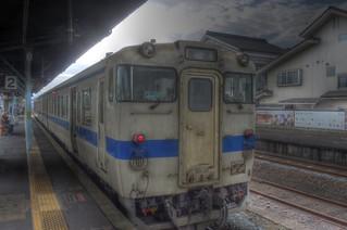 Trains at Hita Station on OCT 27, 2015 (1)