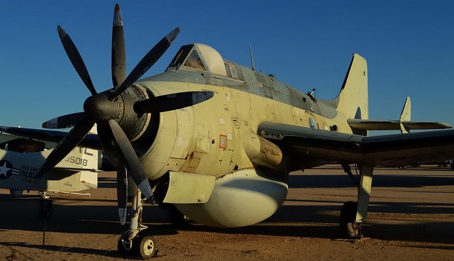 Sun sets on the Empire - Royal Navy Fairey Gannet fleet defender 1965 - Pima Air & Space Museum, Tucson, Arizona