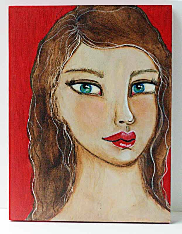 Mixed-media-girl-on-a-wood-panel