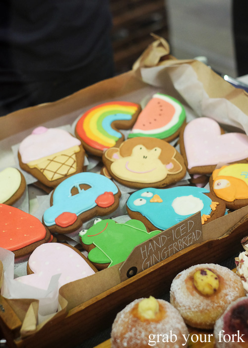 Hand iced gingerbread by Flour and Stone at Rootstock Sydney 2015