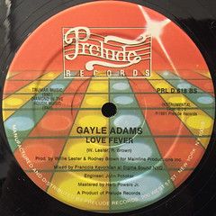 GAYLE ADAMS:LOVE FEVER(LABEL SIDE-B)