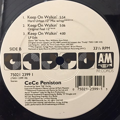 CE CE PENISTON:KEEP ON WALKIN'(LABEL SIDE-B)