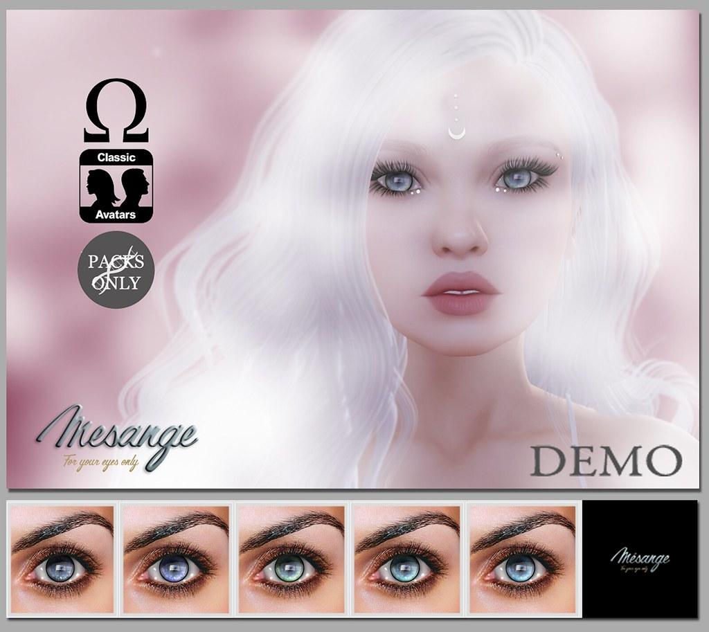 MESANGE - The Listener Eyes mini pack for DESIGNER CIRCLE - SecondLifeHub.com