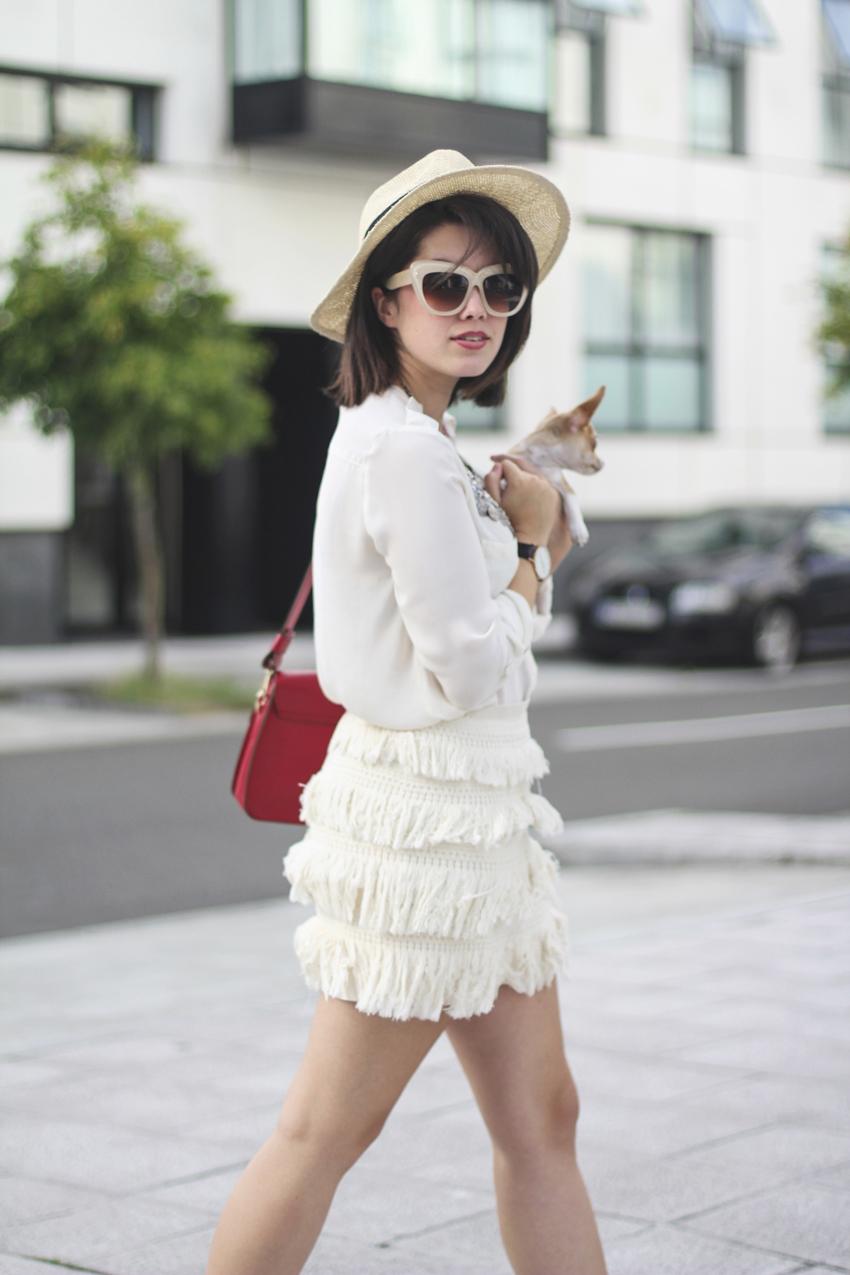 falda flecos beige coleccion sfera primavera verano myblueberrynightsblog