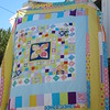 Close up of MMM quilt.