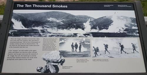 Old photo of the Ten Thousand Smokes