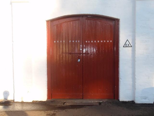 Warehouse at Benromach distillery