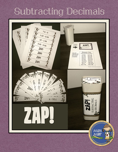 Subtracting Decimals ZAP