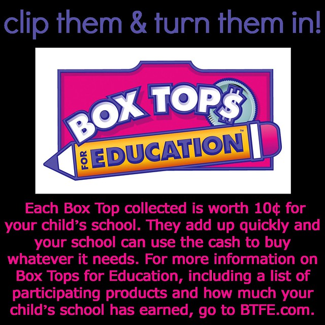 Box Tops for Education #BTFE