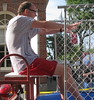 Sen. Jason Lewis does the dunk tank
