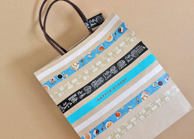 diy washi tape gift bag