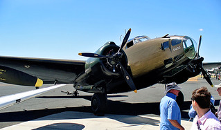 27 Nov 2005 - Rare Lockheed 'Hudson', serial A16-112 (VH-KOY) light bomber being readied for flight at the Aviation Museum, Temora, NSW, Australia
