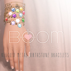 *BOOM* Rescued Metal Bracelets (gem edition + unicorn rare)