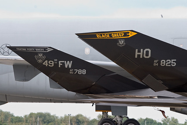 80-0788 and 84-0825 F-117A Stealth Fighters HO  USAF