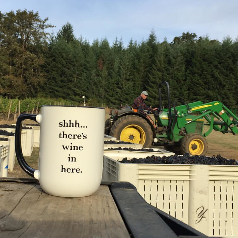 Our secret for a great harvest morning! #harvest2015 #willamette #youngberghill