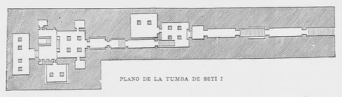 """""""Plano de la tumba de Seti I"""""""