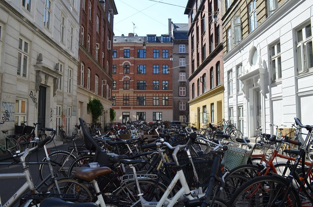 bike parking in Nørrebro Copenhagen