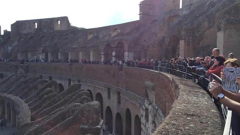Scene inside Colosseum.