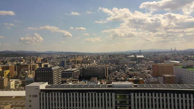Atop Kyoto station