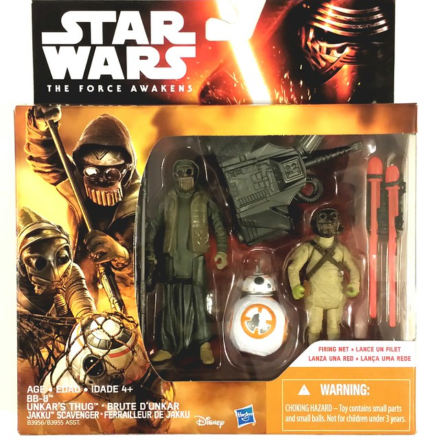 "Star Wars -The Force Awakens' 3.75"" Unkar's Thug & Jakku Scavenger set"