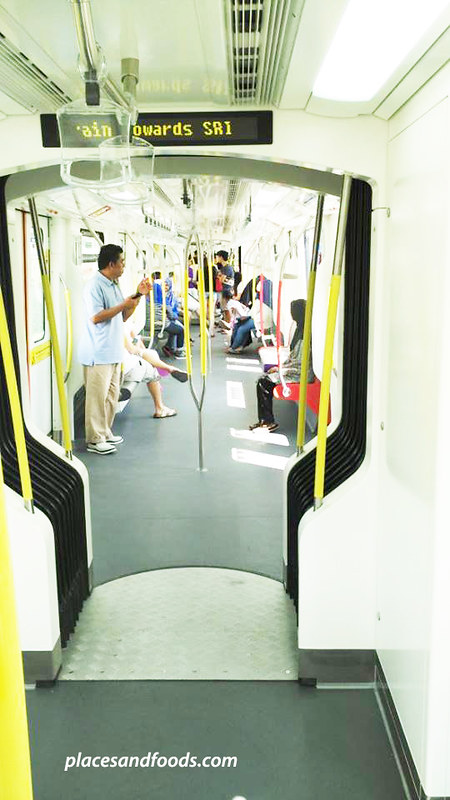 NEW LRT train corridor