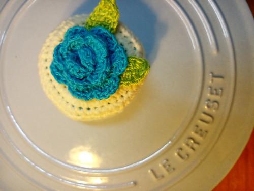 藍花。LC鍋蓋頭套