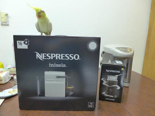 Nespresso Inissia + 奶泡機