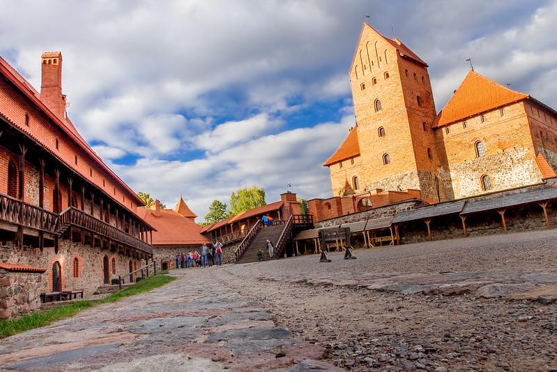 Courtyard - Zamek Troki - Trakai Island Castle