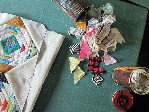 how to use Triangle Scraps