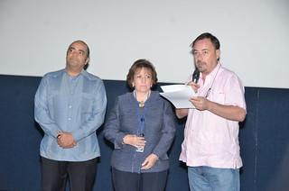 Omar de la Cruz, Lidia Vastos y Manuel Cuenca