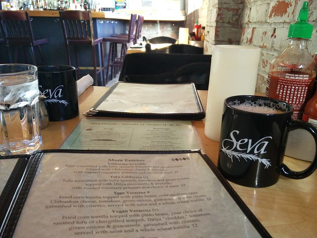 Seva Hot Chocolate and Menu