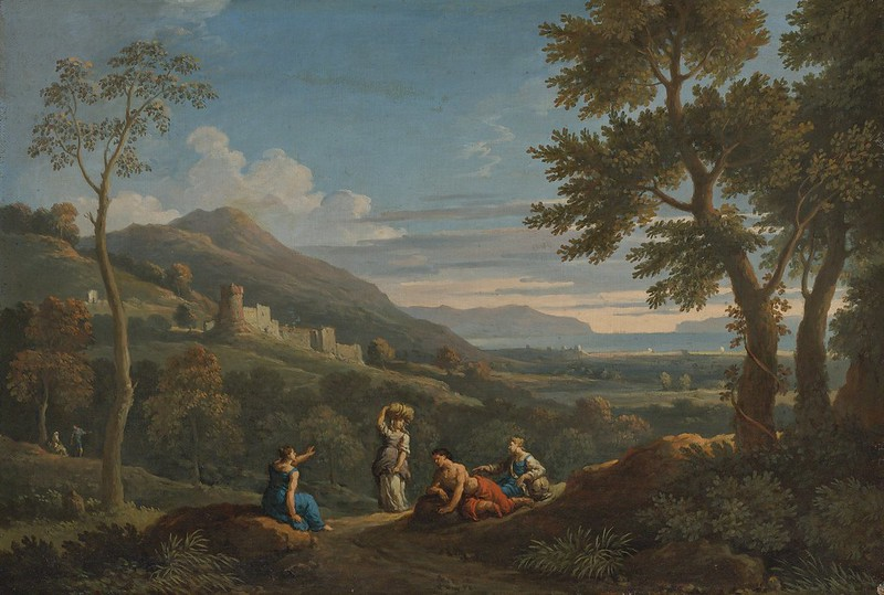 Jan Frans van Bloemen - Classical Landscapes with Peasants in the Foreground