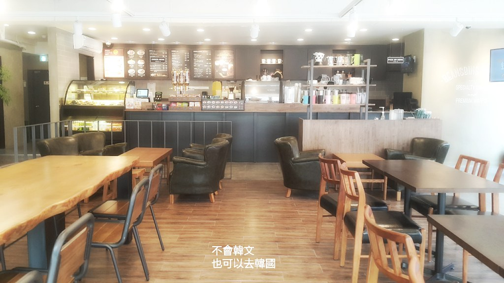 韓國首爾下午茶》三清洞/新村/蠶室/石村湖 BEANSBINS COFFEE 빈스빈스 @Gina Lin