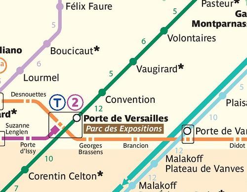 Paris Metro Map for walking