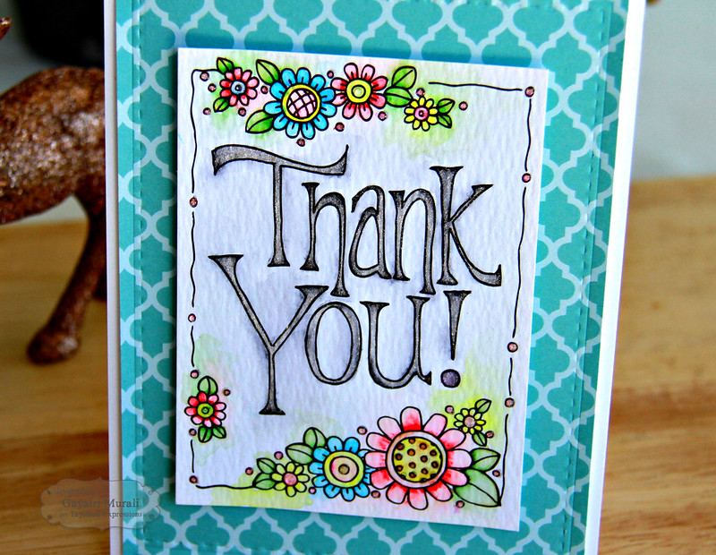 Thanks you card closeup #2