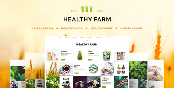 Themeforest Healthy Farm v1.8 - Food & Agriculture WordPress Theme