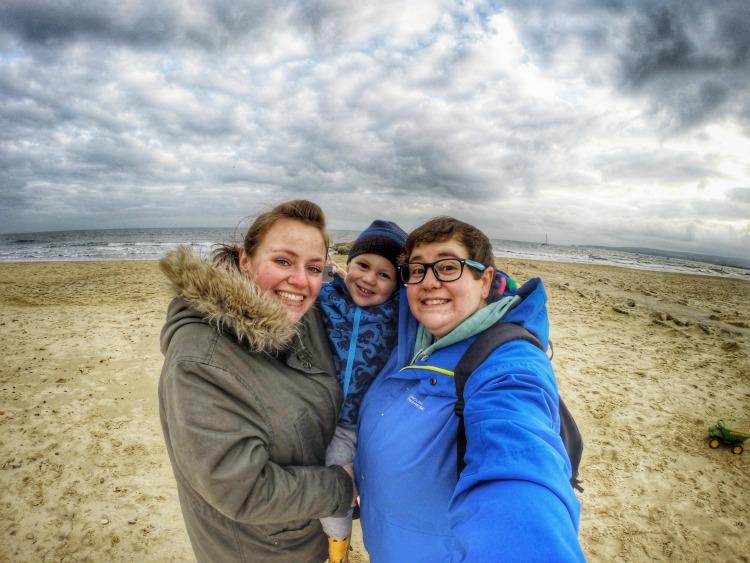 beach smiles family