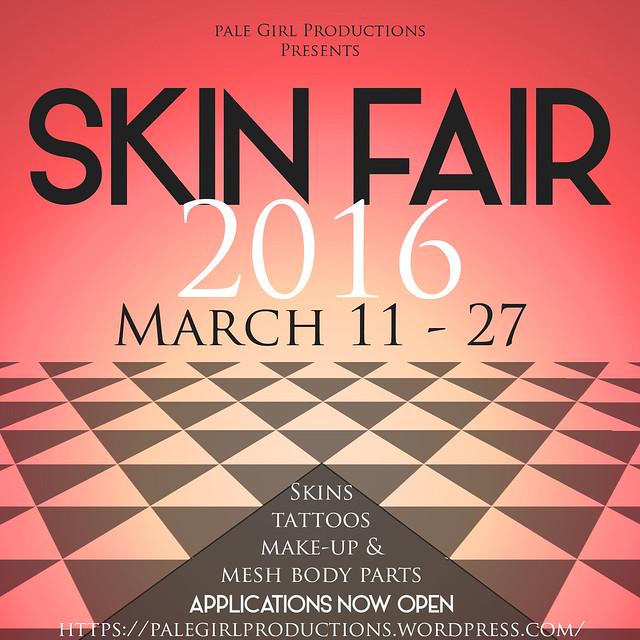 Skin Fair Poster 2016  - Applications open