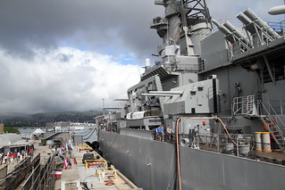 Kuva USS Missouri lähellä Hickam Field. hawaii honolulu pearl harbor harbour