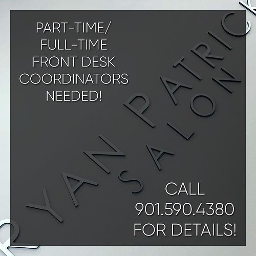 Are you ready to join an awesome team? Know someone looking for a job? Inquire today! #ryanpatricksalon #choose901 #erindrive #memphis #salon #job