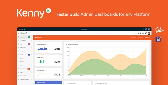 Kenny v1.0 – Dashboard / Admin Site Responsive Template