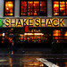 Shake Shack in rainy NYC