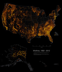 US Wildfires, 1992-2012
