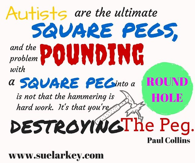Square peg-round hole