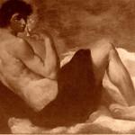Ariccia P.zzo Chigi , Allegoria dei Sensi , Giacinto l'olfatto, XVI secolo di P. F. Mola a